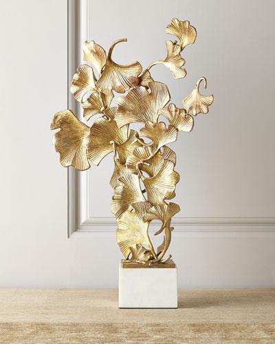 Floating Ginkgo Leaves Sculpture