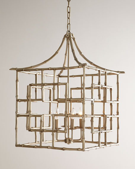 Bamboo fretwork 4 light chandelier mozeypictures Choice Image