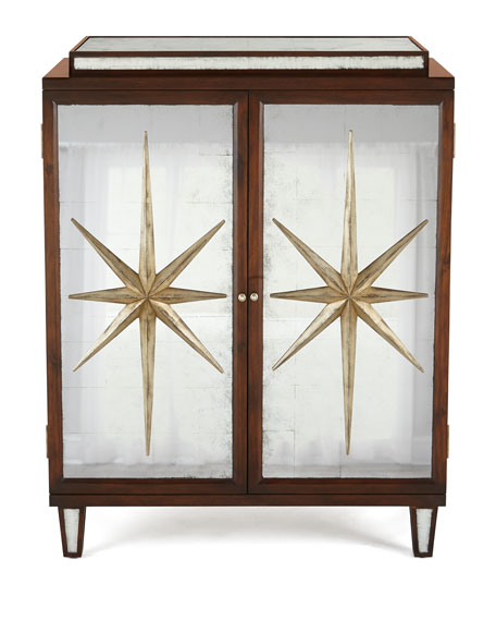 Starburst Mirrored Cabinet