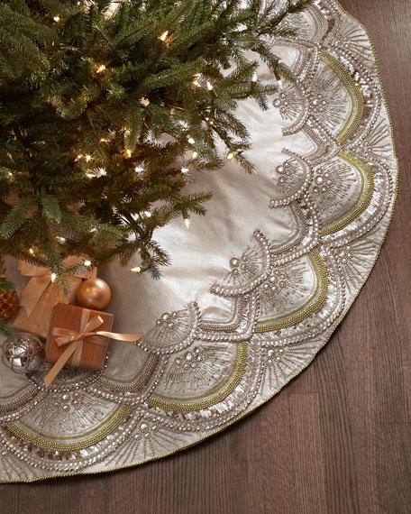 Kim Seybert Scallop Christmas Tree Skirt