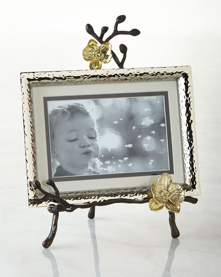 Michael Aram Gold Orchid Easel Picture Frame