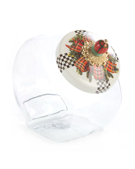 MacKenzie-Childs Evergreen Cookie Jar with Lid