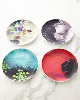 Four Assorted Lela Rose Dessert Plates