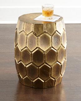 Melisande Honeycomb Garden Stool