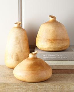 Organic Wood Vases