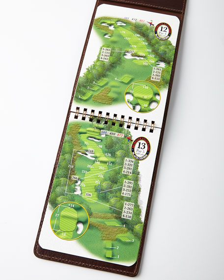 Personalized Golf Yardage Book Cover