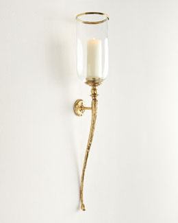 Braydon Hammered Brass Wall Sconce