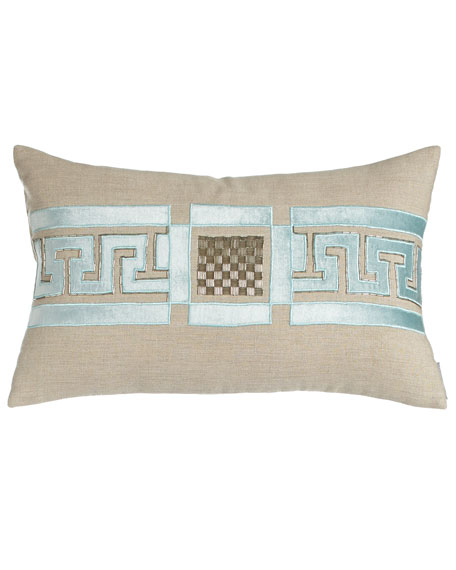 "Dimitri Pillow with Beading Detail, 14"" x 20"""