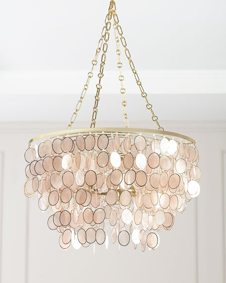 Aurora 3 light silvery chandelier
