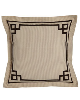 European Sham with Fretwork Trim