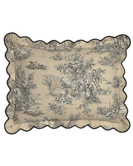 King Scalloped Toile Sham