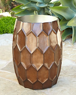 Honeycomb Bronze Garden Stool