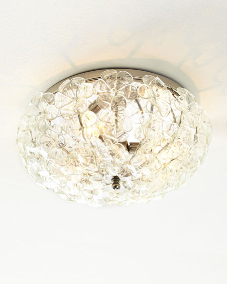 "Glass Flower 17"" Flush-Mount Ceiling Fixture"