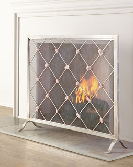 Giallastro Quartz-Accent Fireplace Screen