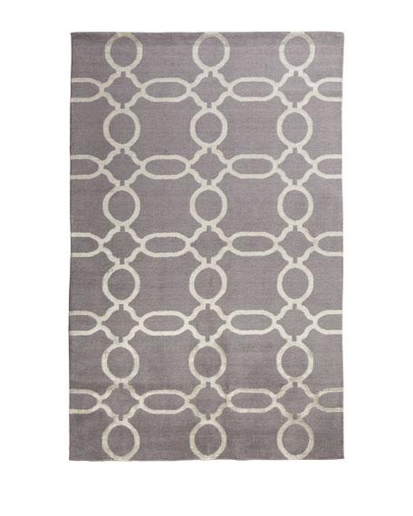 Gray Links Rug, 2' x 3'