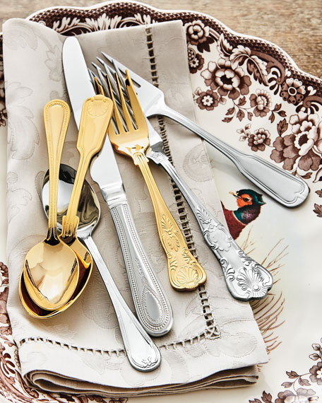 90-Piece Gold-Plated Hotel Flatware Service & Towle Silversmiths 90-Piece Gold-Plated Hotel Flatware Service
