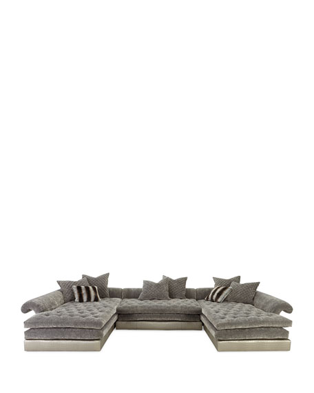"Galvin Three-Piece Sectional Sofa 170"""