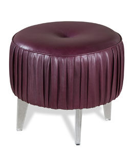 Henley Leather Pouf