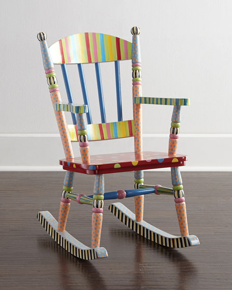 MacKenzie Childs Wee Rocking Chair