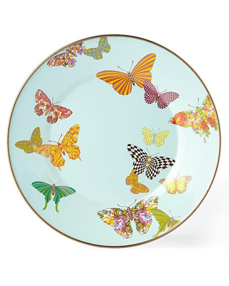 Butterfly Garden Sky Dinner Plate