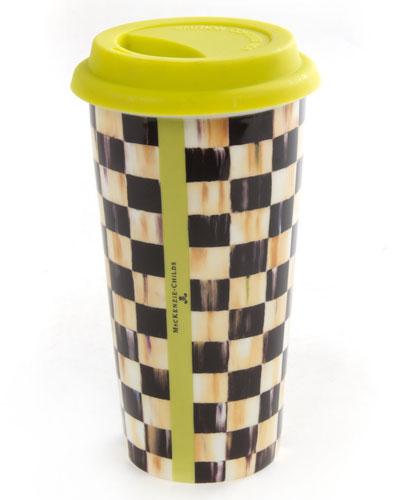 Courtly Check Travel Mug