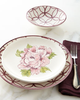 12-Piece Lattice & Floral Dinnerware Service