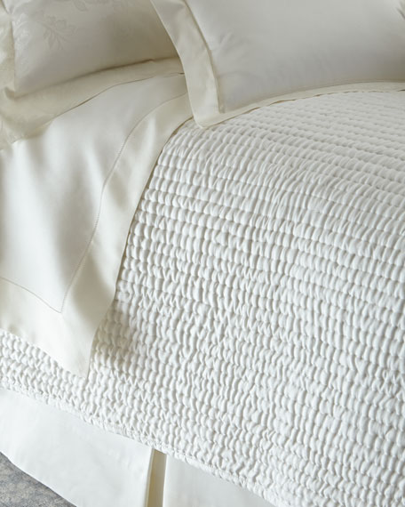 Queen Seta Quilted Silk Coverlet