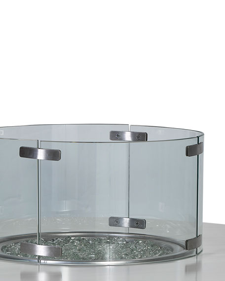 Glass Firepit Screen