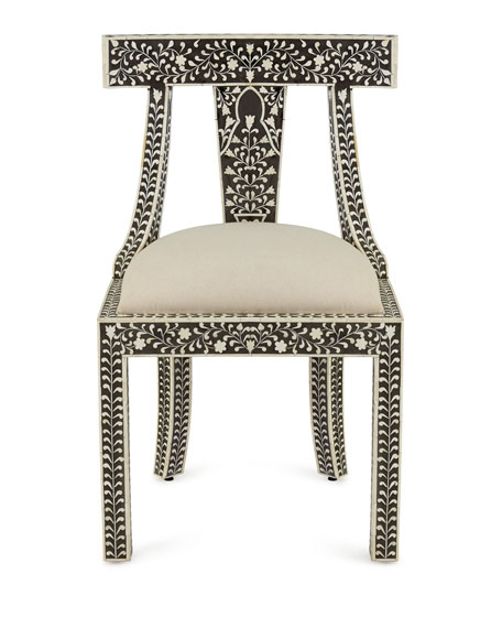 Charmant Femi Bone Inlay Accent Chair