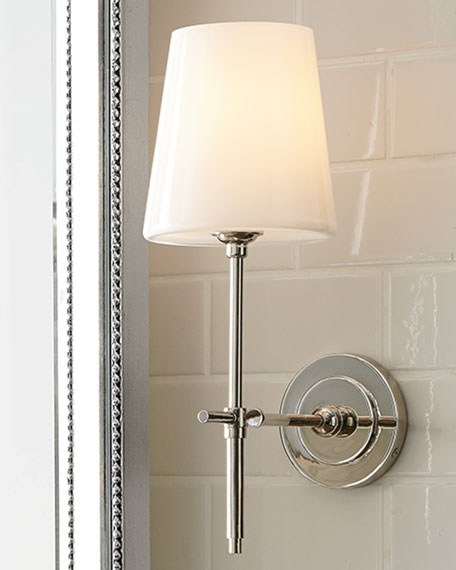 Visual comfort bryant sconce with glass shade - Bathroom light replacement glass ...