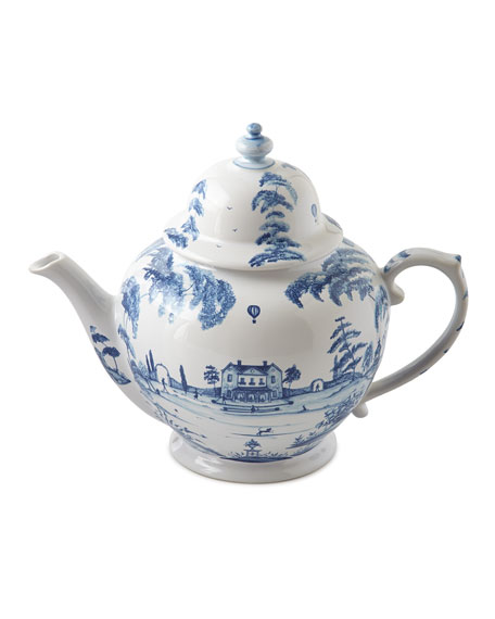 Country Estate Delft Blue Teapot