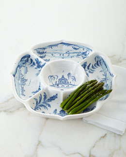 Country Estate Delft Blue Hors D'Oeuvres Server