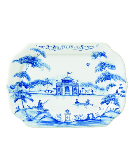 Country Estate Delft Blue Friendship Gift Tray
