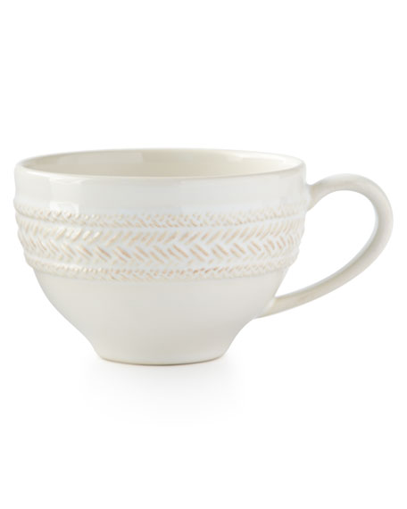 Juliska Le Panier Whitewash Tea/Coffee Cup