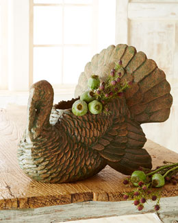 Turkey Centerpiece Bowl