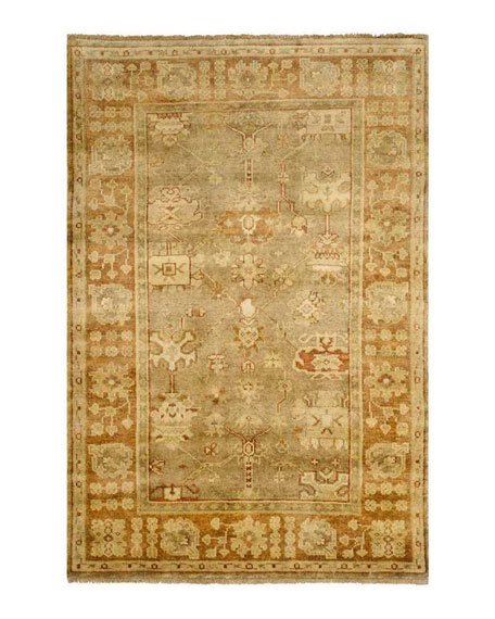 Eaton Hand Knotted Oushak Rug, 4' x 6'