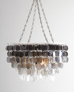 Capiz Ombre Two-Light Chandelier