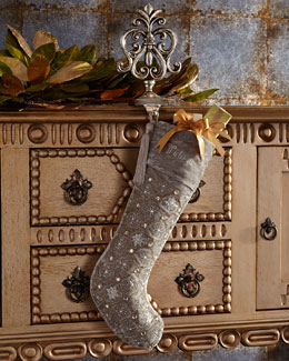 Silver-Tissue Christmas Stocking