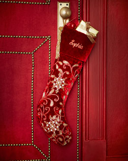Velvet Christmas Stocking