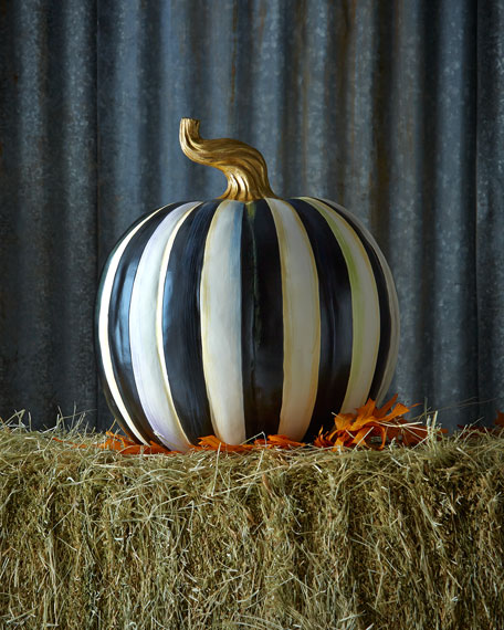 MacKenzie-Childs Courtly Stripe Large Pumpkin