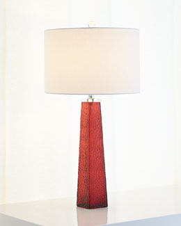 Sangria Tapered Glass Lamp