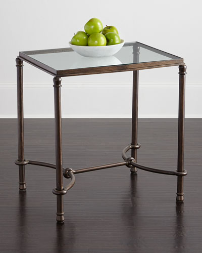 Hanigan Glass-Top End Table