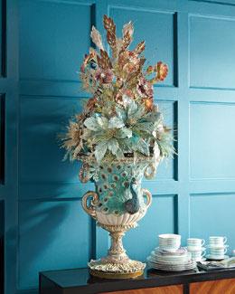 Botanica Floral Peacock Urn