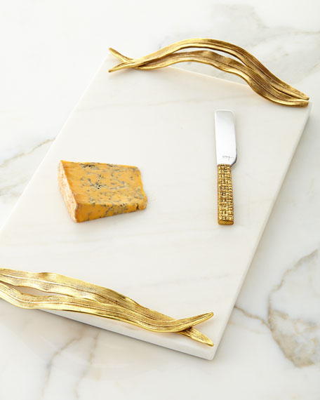 Michael Aram Palm Cheese Board with Knife