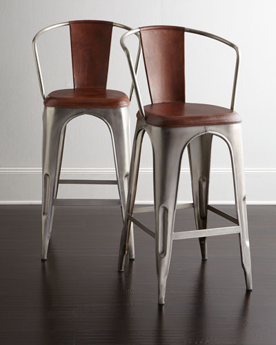 Sundance Leather Barstool