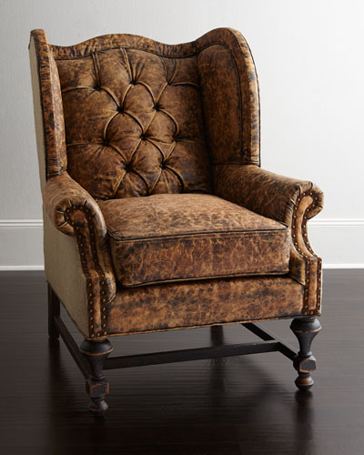 Gibson Leather Wing Chair