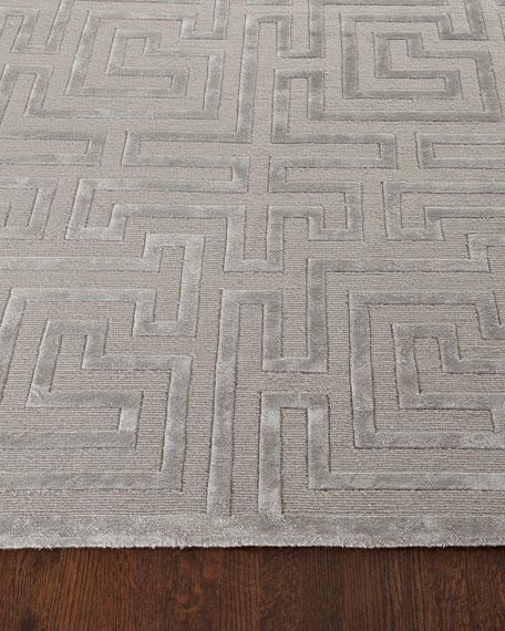 Silver Trellis Rug, 9' x 12'