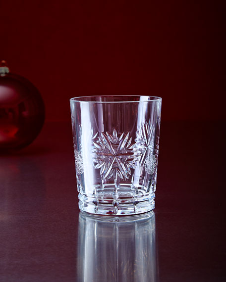 Waterford Crystal Snowflake Wishes Clear Double Old-Fashioned