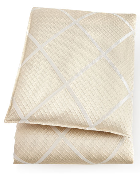 Queen Brenner Lattice Duvet Cover