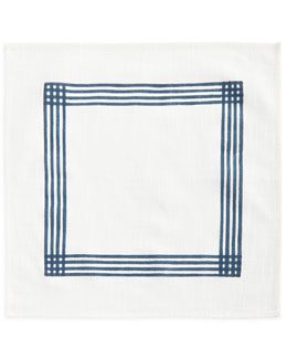 Indigo Stripe Napkins, Set of 4